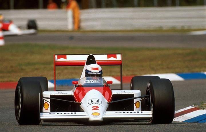 f1 Buenísima foto del McLaren del Profesor, el Francés Alain Prost en Alemania 1989 ... carrera en la que partió 2° y terminó 2°, ambas por detrás de quien viene atrás de el en la foto ..