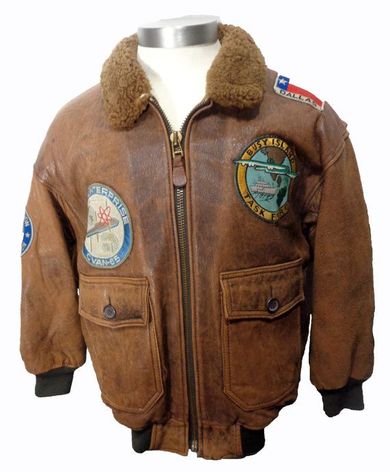 "AVIREX's ""TOP GUN"" G-1 Brown Leather Flight Jacket Men's Size S  Price: $279.99"