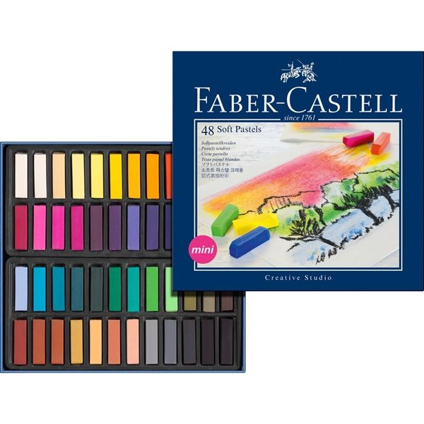 Soft pastel crayons STUDIO QUALITY mini box of 48