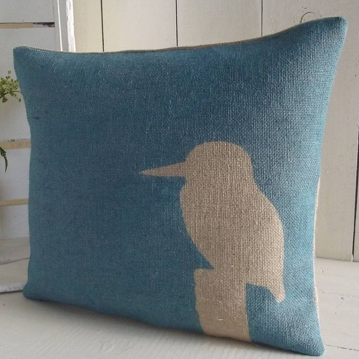 kingfisher cushion by rustic country crafts | notonthehighstreet.com