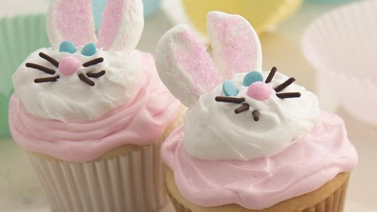 You're just a hop away from making deliciously sweet bunny cupcakes. Cake mix and ready-to-spread frosting make it extra easy.