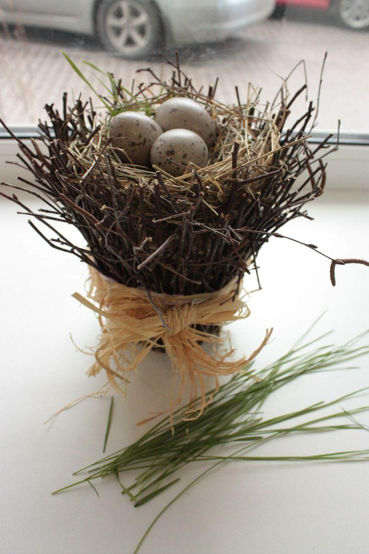 Easter decor, meine Idee, mein Job пасхальное гнездо, моя идея, моя работа