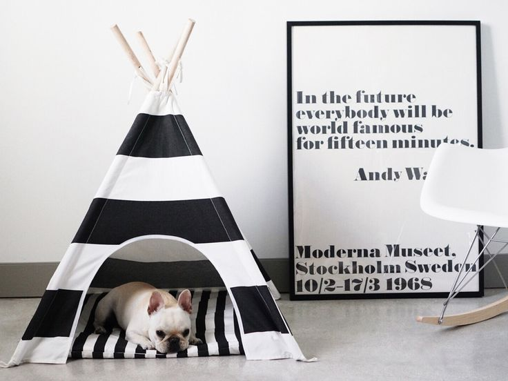 November interior design inspirations, random | ITALIANBARK #dog tent & andy warhol print