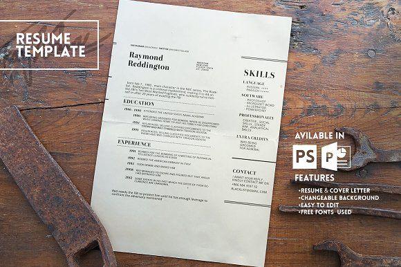 1000+ Ideas About Resume Templates On Pinterest