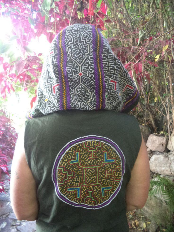 Shakruna Songs, Cowl hooded  waistcoat Burning Man/Shamanic/Steam punk/Tribal/woodland/psycadellic W17 by Shakruna on Etsy