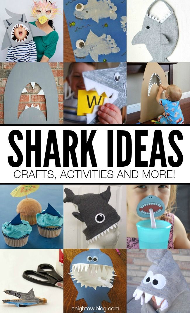 Great Shark Ideas for #SharkWeek! Crafts, Activities and MORE!