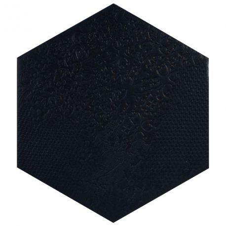 carrelage hexagonal noir mi2406002 f l o o r. Black Bedroom Furniture Sets. Home Design Ideas