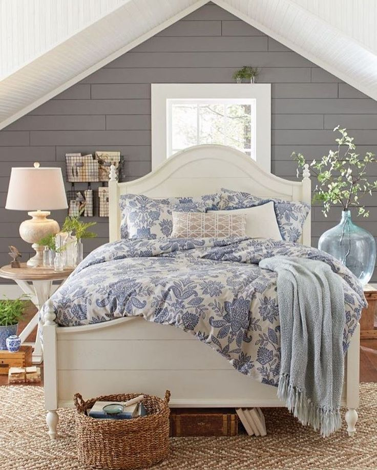 Cottage Style Bedroom With Shiplap Walls