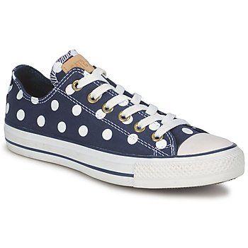 navy Converse polka dot
