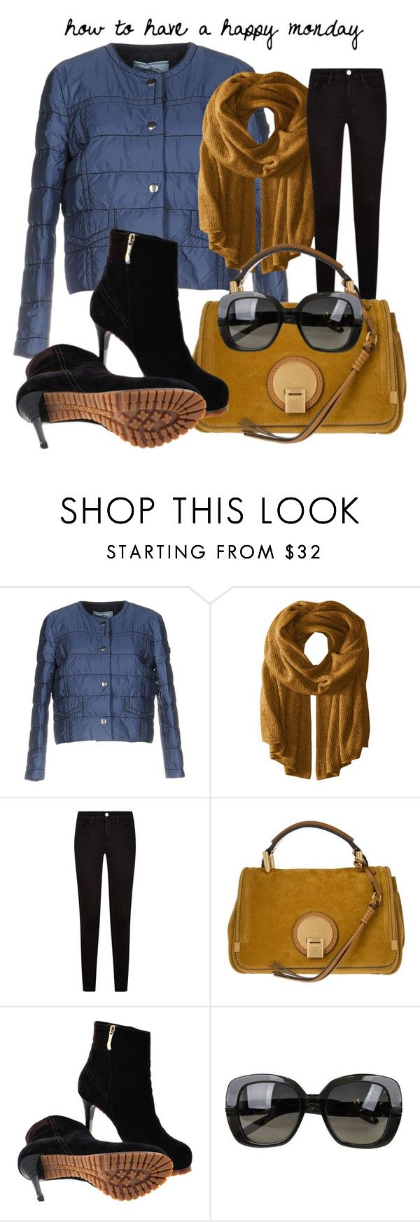 """happy monday"" by glasspaperscizzors on Polyvore featuring Prada, Steve Madden, Chloé, Gianmarco Lorenzi and Bottega Veneta"