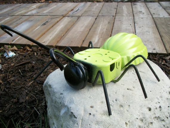 Junk Art Metal Ant/ Garden Art/ Yard Art/ Recycled By Sewupcycle, $35.00
