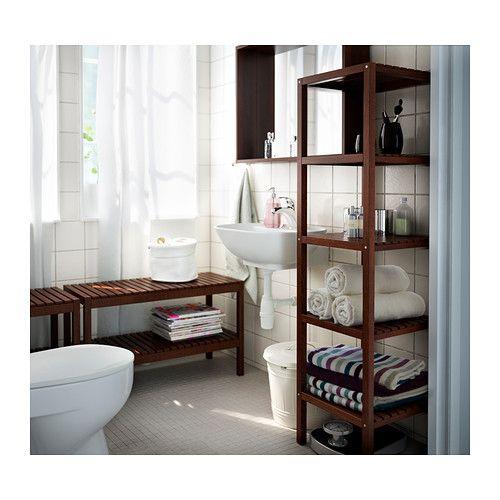 MOLGER Étagère IKEA Les tablettes ouvertes donnent un large aperçu et offrent un accès facile.