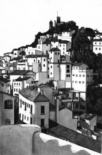 Casares, Spain (2006) - Limited edition hand made etchings.