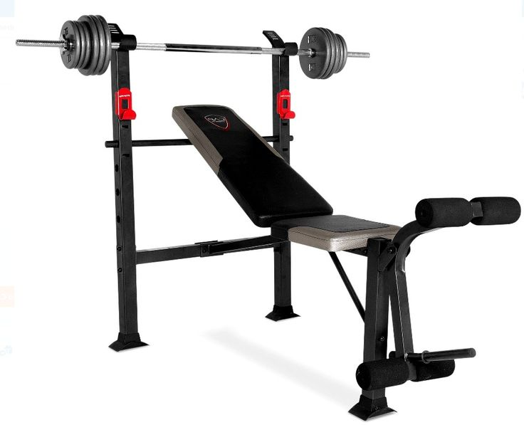 Standard Weight Bench Press Gym w/100 lb Weight Set Weight Lifting Body Work New #CAPBarbell