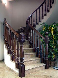 TORNEADOS FUENTESPALDA / Barandillas y escaleras de madera, forja, hierro, acero inoxidable y cristal » BARANDILLAS DE MADERA TORNEADA