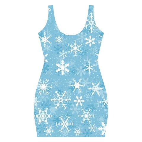 Snowflakes Bodycon Dress - Available Here: http://www.cowcow.com/SonderSky/snowflakes-full-print-bodycon-dress_p55155984