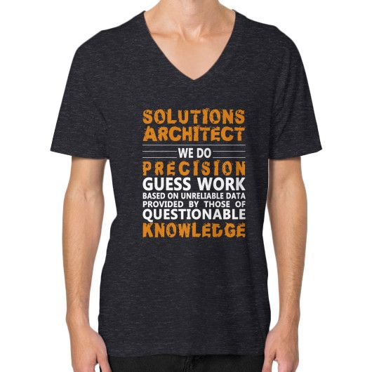 solutions architect we do v neck on man