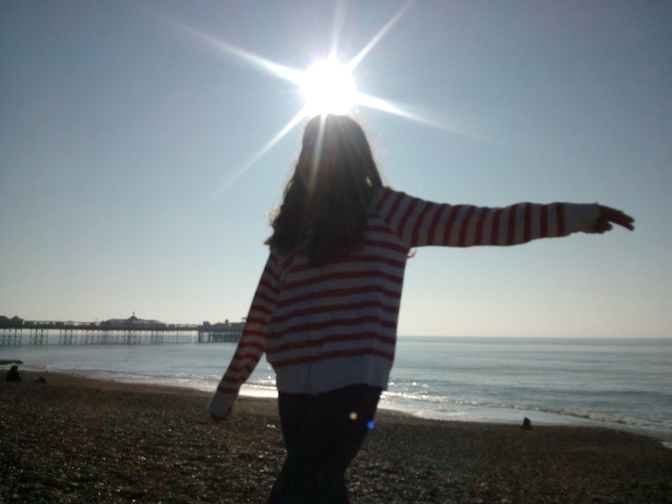 Girl on Brighton Beach