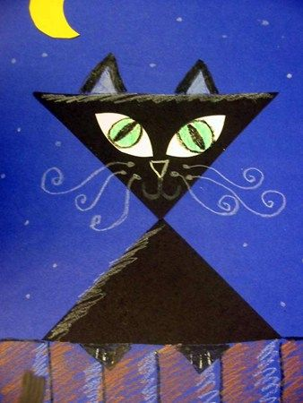 Black cat....this one is fun...use squares