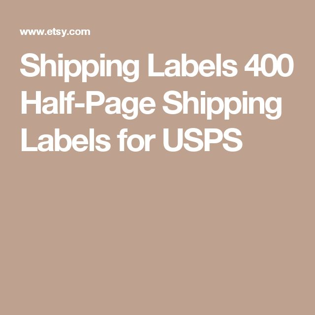 Shipping Labels  400 Half-Page Shipping Labels for USPS