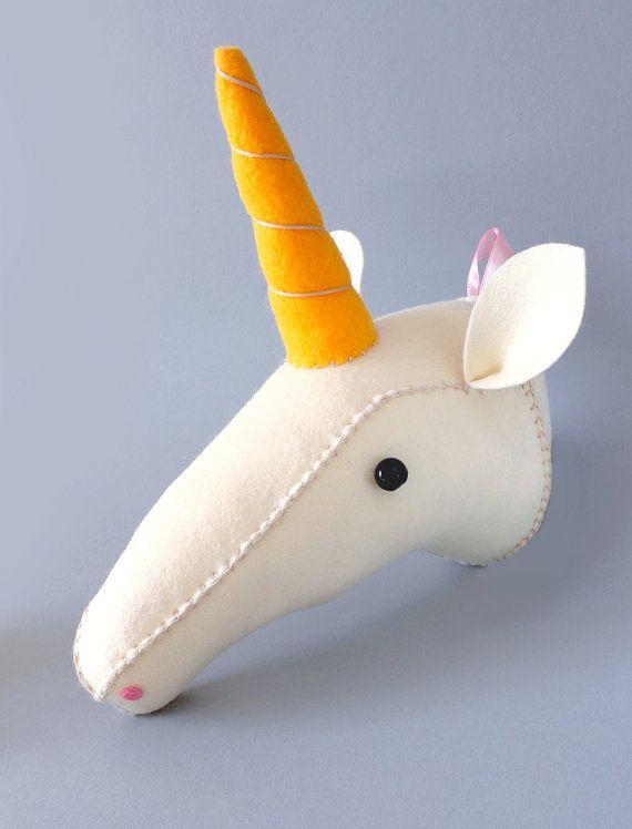 DIY Unicorn Pattern Plush Animal Head Tutorial by AICFauxTaxidermy