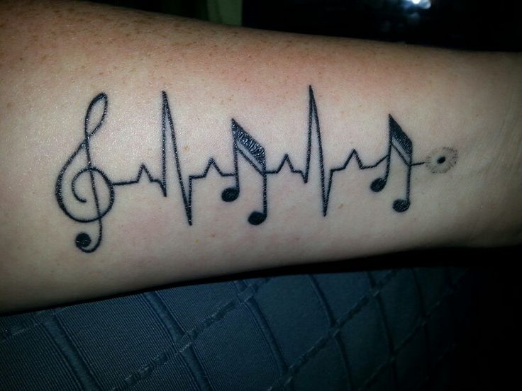 music notes and ecg tattoo sister mutual designing power tats pinterest note music and. Black Bedroom Furniture Sets. Home Design Ideas