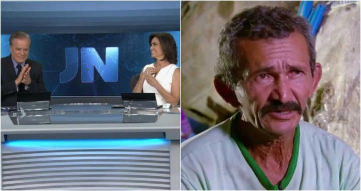 O apresentador Chico Pinheiro terminou o programa batendo palmas para a história de um catador de lixo, retratada na última reportagem da noite.