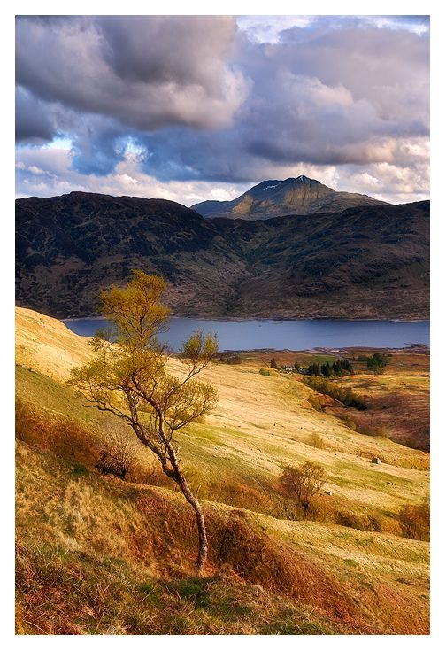Scotland - Loch Lomond National Park, view over Loch Arklet in to Ben Lomond peak