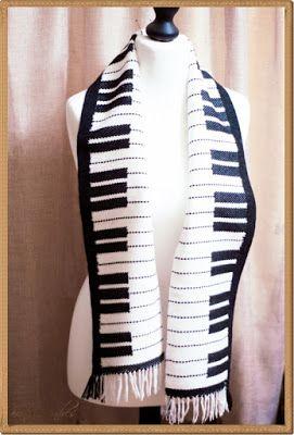 Pracownia pod chmurami: Piano scarf - szalik dla pianisty
