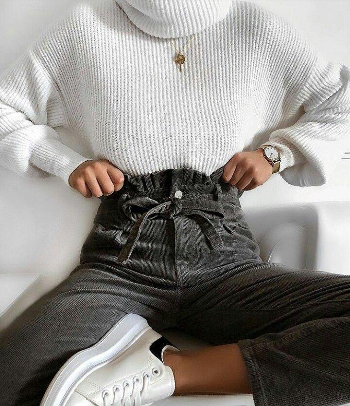 White sweater christmas fashion
