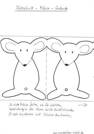 Faschingsgirlande mit Mäusen - Fasching-basteln - Meine Enkel und ich - Made…