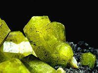 Ettringite - is a hydrous calcium aluminium sulfate mineral with formula: Ca6Al2(SO4)