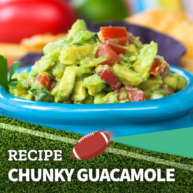 Enjoy the game with a chunky guacamole!