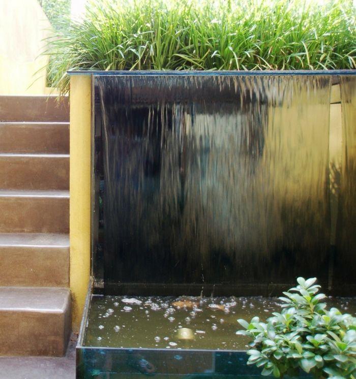 Die besten 25+ Moderner japanischer Garten Ideen auf Pinterest - wasserfall im garten modern
