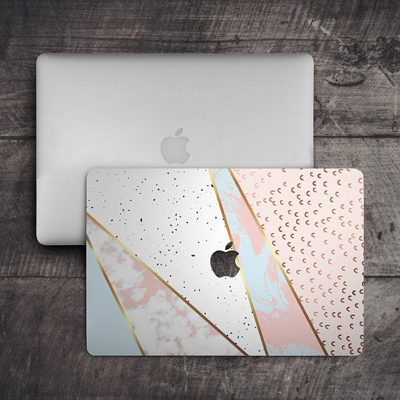 Geometric Marble Laptop Skin Sticker Top MacBook Pro 13 Skin Bottom Laptop Skin MacBook Air 13 Cover Pink Marble MacBook Pro 15 White Skin
