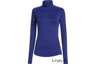 Under Armour Maillot Qualifier 1/2 Zip W pas cher - Vêtements femme running Manches longues en promo