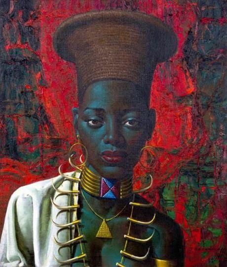 Vladimir Tretchikoff, Zulu Maiden - 1958. Strange and beautiful, part celebration, part reinvention of the exotic.