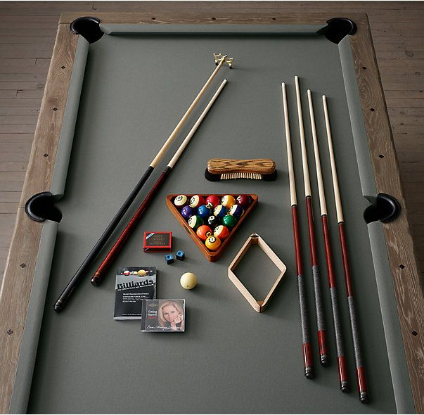 RH's Brunswick Exclusive Tournament Billiards Table:Cue up and let the games begin with our customized pool table from Brunswick, the only name in pocket billiards since 1845. Our professional-quality table is engineered to the highest standards and includes a limited lifetime warranty.