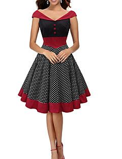 Womens+Fashion+Elegant+Polka+Dot+Vintage+Style+Swing+Rockabilly+Party+Dress+–+USD+$+22.99