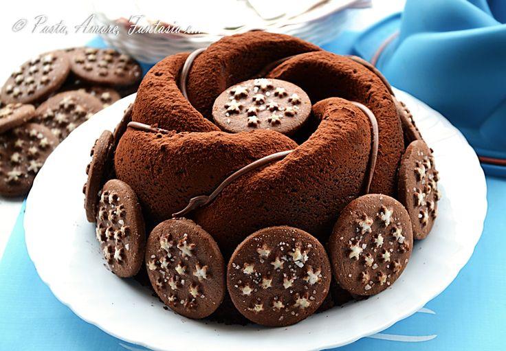 Buonasera a tutti! Stasera vi presento una torta dall' aspetto davvero bello! La Torta Pan di Stelle e Nutella che ho preso dal Blog Rossella in Padella e