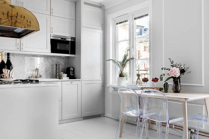 Шведская квартира с нотками американского стиля (41 кв. м) | Пуфик - блог о дизайне интерьера