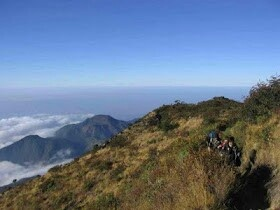 Mount Lawu, between Central Java and East Java (Indonesia)