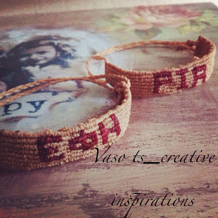 Bracelet makrame write your name