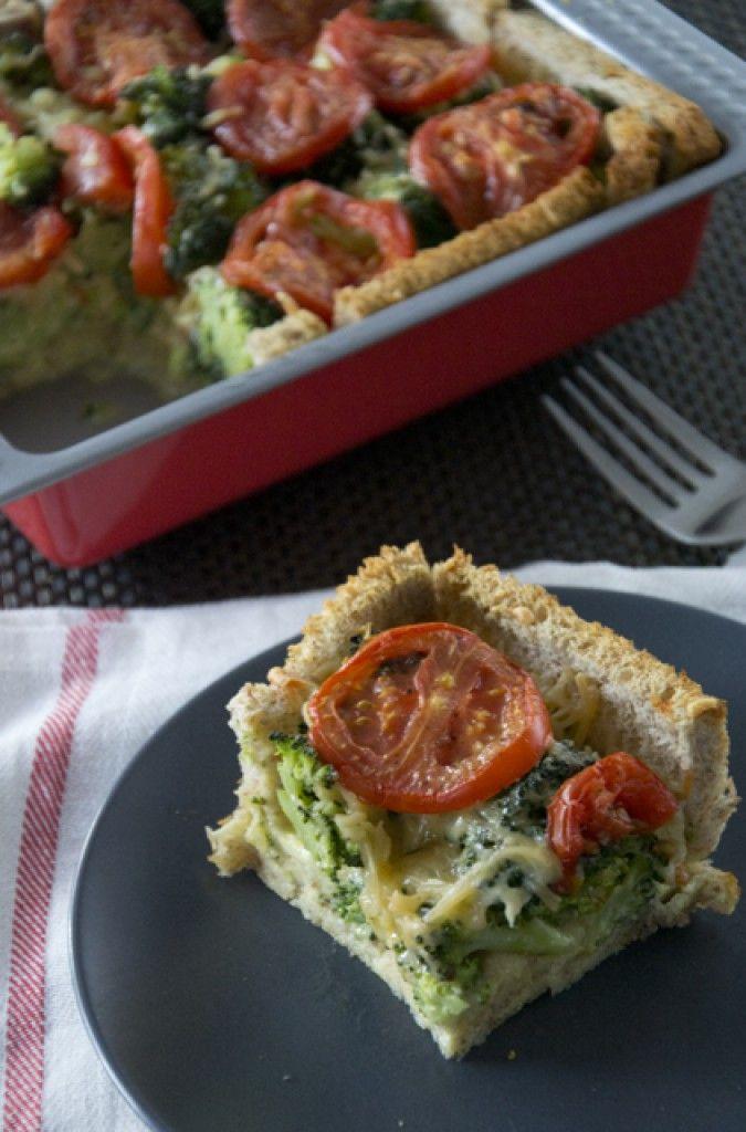 Broodquiche van broccoli en tomaat
