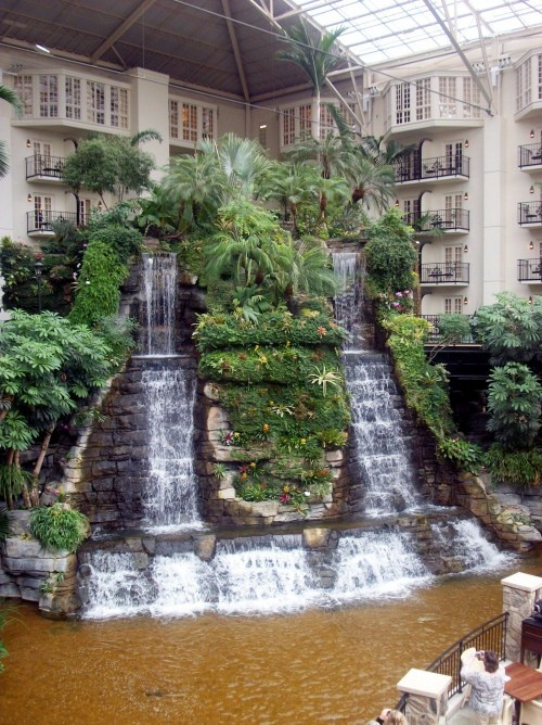 LOVED this!!! Just walk around the hotel. We always go every Christmas to see the beautiful decorations. Waterfall in the Opryland Hotel, Nashville, Tennessee