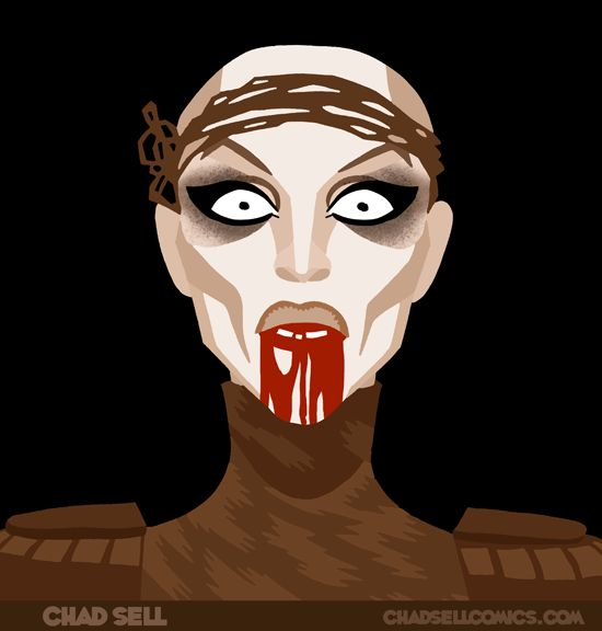chadsellcomics.com artwork Sharon Needles RuPaul Drag Race