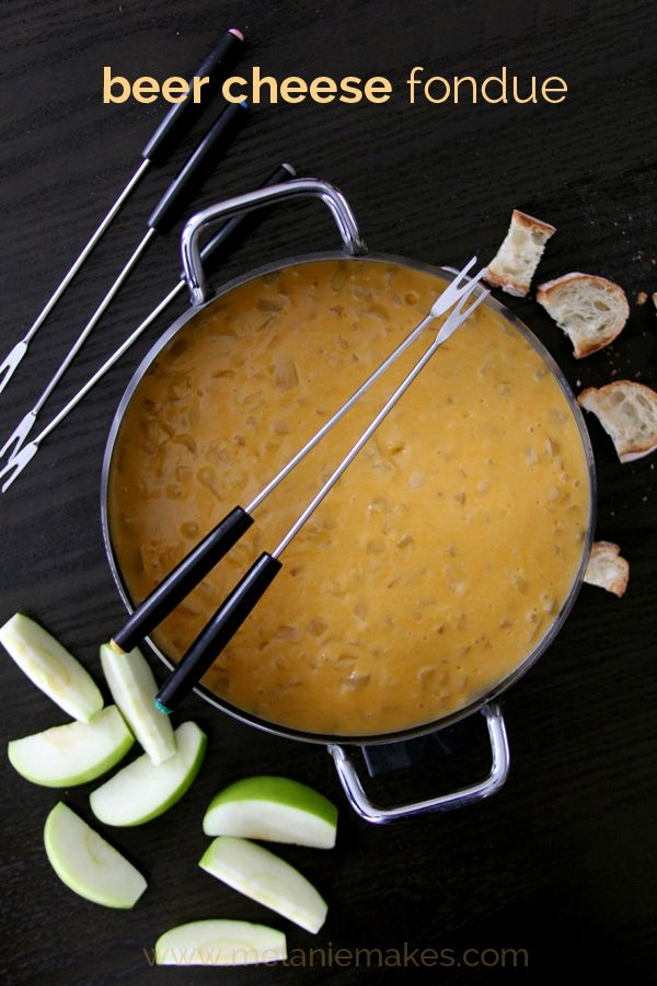 Beer Cheese Fondue and More. Amazing fondue recipe!