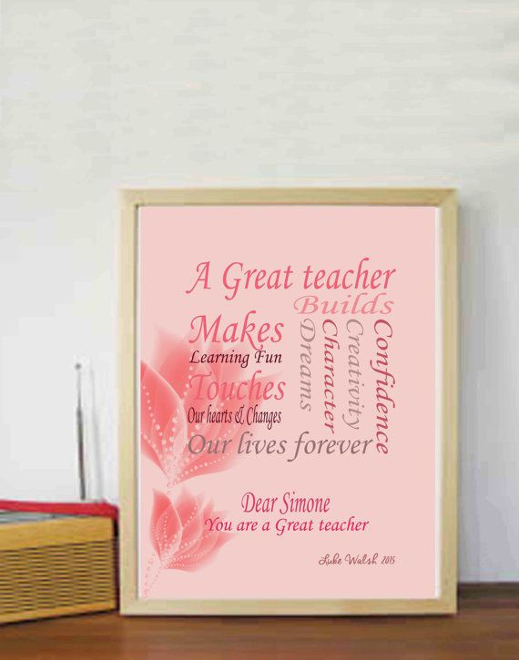 Teachers Gifts Year end gifts Teacher quotes Personalised