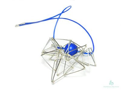 Andreea Bololoi Jewelry: Geometric contemporary necklace