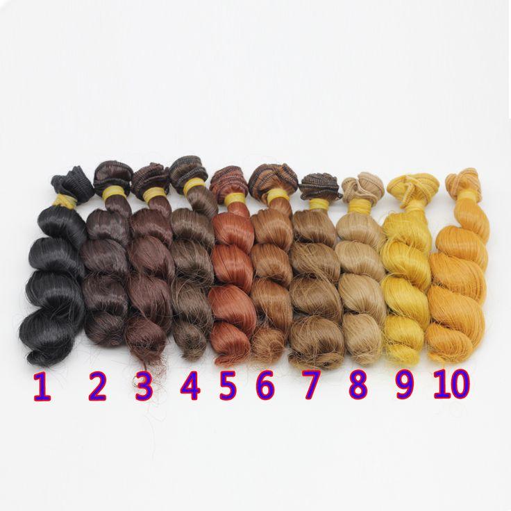1 шт. 15x100 см DIY Вьющиеся Волнистые Волосы Парик для 1/3 1/4 1/6 BJD SD Куклы #women, #men, #hats, #watches, #belts, #fashion, #style